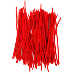 Pack of 100 Red Eid Arts & Craft Pipe Cleaners