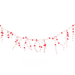 Metallic Red Artificial Berry Eid Decoration Garland - 2 meters