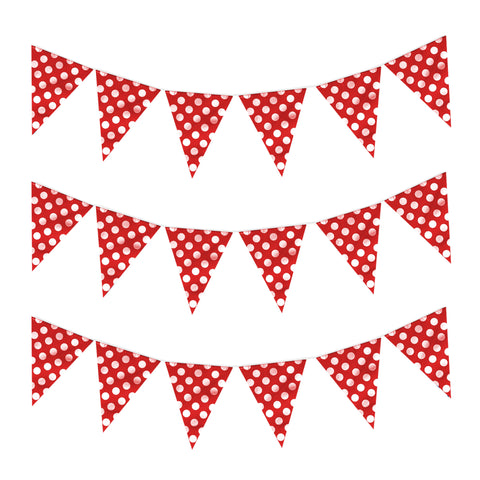 Red Polka Dot Eid & Ramadan Celebration Bunting