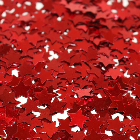 Red Metallic Star Shaped Eid Table Confetti
