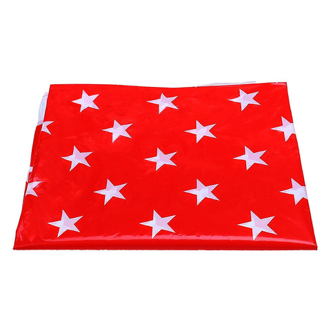 Red & White Star Pattern Eid Party Plastic Table Cover