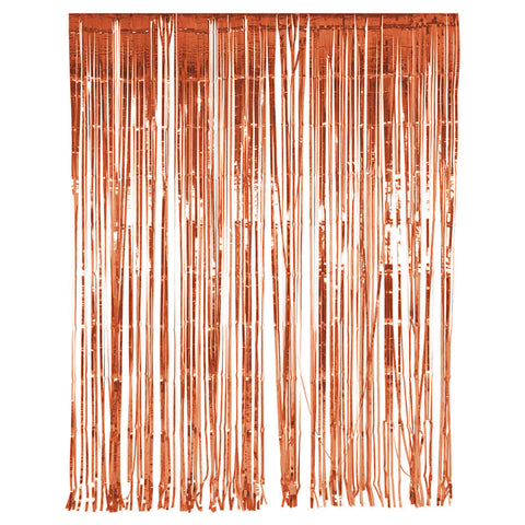 Metallic Rose Gold Foil Tinsel Curtain Backdrop Decoration