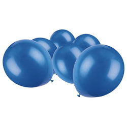 Metallic Dark Blue Latex Eid Party Balloons (20 Pack)