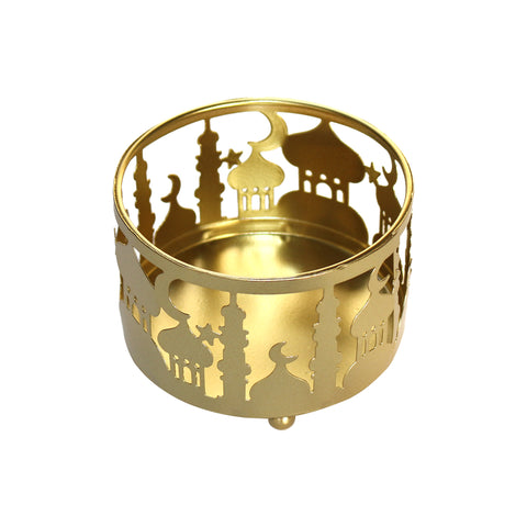 Small (10cm) Gold Metal Eid Mubarak Ramadan Cut Out Cake / Treat Tins
