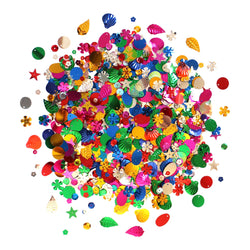 Assorted Multicolour Sequins & Spangles Eid Arts & Crafts - 100g Pack