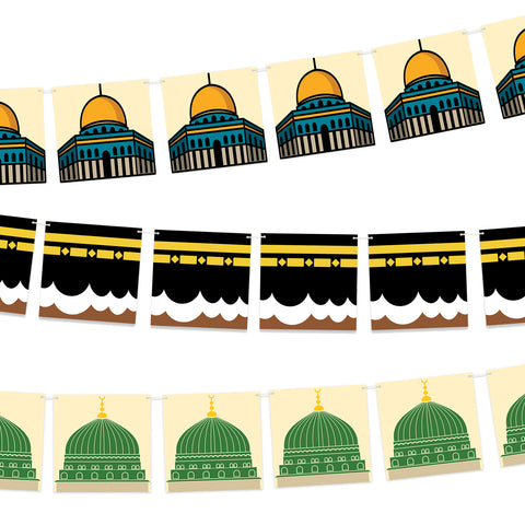 3 Holy Sites Bunting Set