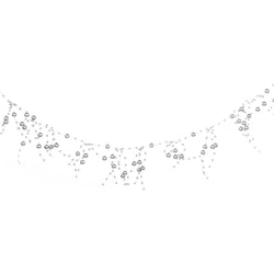 Metallic Silver Artificial Berry Eid Decoration Garland - 2 meters