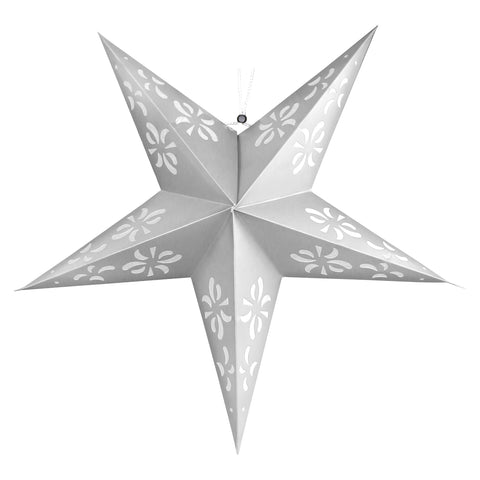 Large Silver Paper Hanging Star Eid & Ramadan Decoration