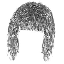 Silver Tinsel Eid Party Dress Up Wig