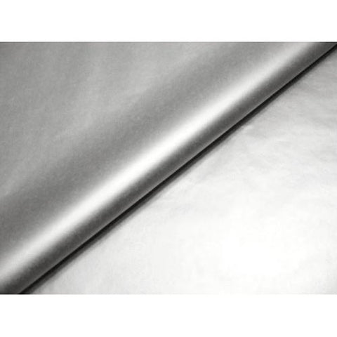Metallic Silver Tissue Wrapping Paper - 75 x 50cm (10 Pack)