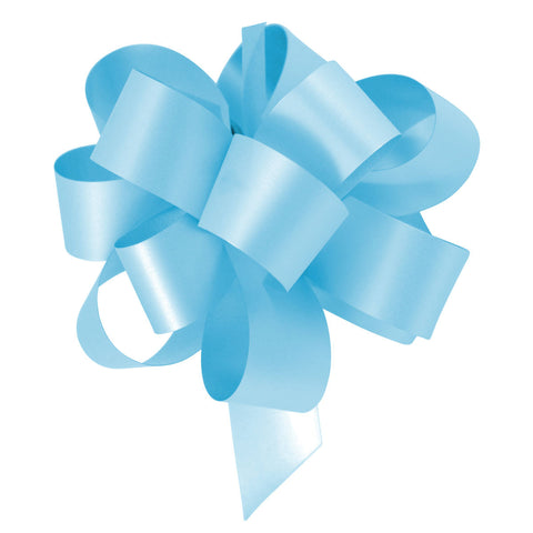 Sky Blue Eid Gift Wrapping Pull Bow Ribbons (10 Pack)