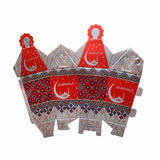 Pack of 4 Spiral Lantern Eid Favour Boxes Hanging Mobile Decorations