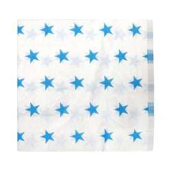 White / Blue Star Pattern Eid Party Napkins (20 Pack)