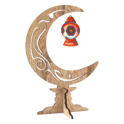 Wooden Crescent Moon Home / Table Decoration
