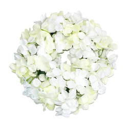 Artificial White Flower Wreath Hanging Decoration (36cm)