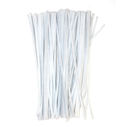 Pack of 100 White Eid Arts & Craft Pipe Cleaners