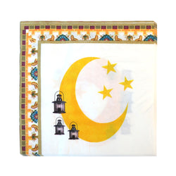 White Crescent Moon Ramadan Eid Party Napkins (20 Pack)