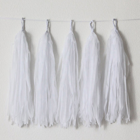 White Paper Hanging Tassels Eid & Ramadan Decoration