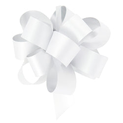 White Eid Gift Wrapping Pull Bow Ribbons (10 Pack)