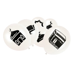 White Islamic Symbol Balloons (15 Pack)