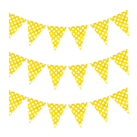 Yellow Polka Dot Eid & Ramadan Celebration Bunting