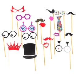 15pc Eid Party Assorted Selfie Set - Moustache & Glasses Set