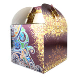 Eid Mubarak/Ramadan Gift & Treat Celebration Boxes - Large Burgundy & Gold Henna Design