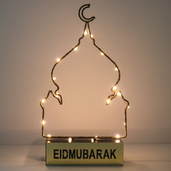 Eid Mubarak Mosque Silhouette LED Light Decoration
