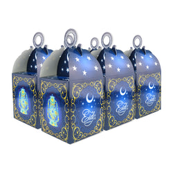 Eid Mubarak/Ramadan Gift & Treat Celebration Boxes - Moon & Star Blue