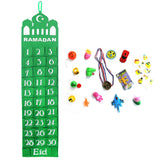 Green Mosque Felt Ramadan Advent Calendar with Pockets