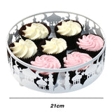 Set of 3 White Metal Eid Mubarak Ramadan Cut Out Cake / Treat Tins - Small / Medium / Large