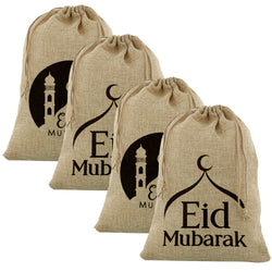 4pc Mixed Large Hessian Eid Gift Sacks (70x50cm)