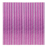 Fuchsia Metallic Paper Party Straws