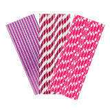 Fuchsia & Pink Paper Party Straws