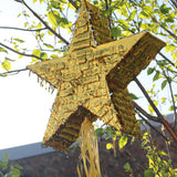 Golden Star Eid Mubarak Hanging Party Pinata + 30 Small Toys
