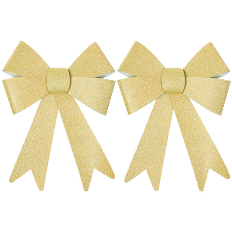 Pack of 2 Large Glitter Eid Gift Bows (Various Colours)