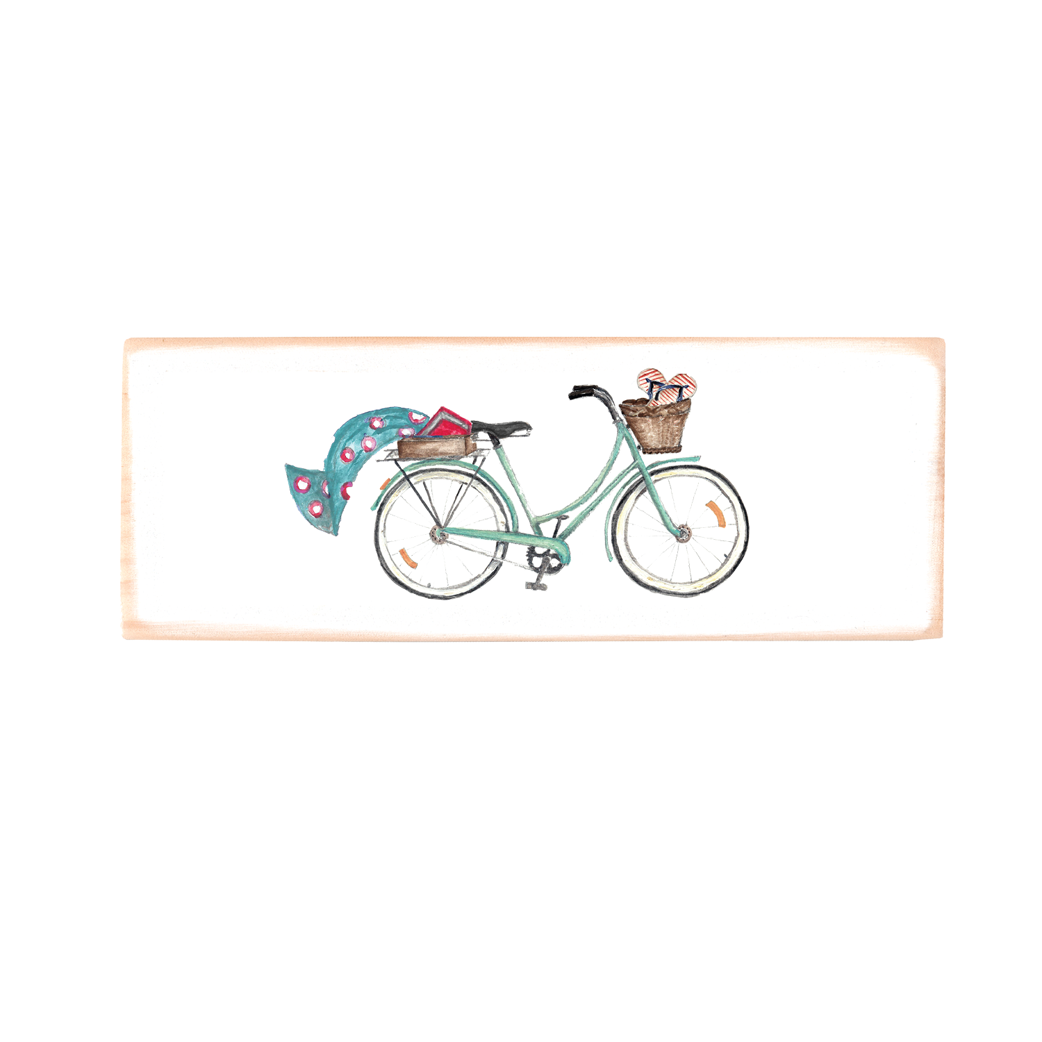 seafoam beach bike + turquoise towel