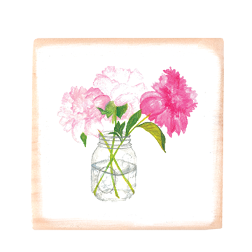 peonies in jar