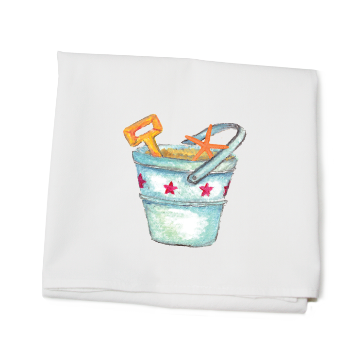 bucket and shovel with star fish