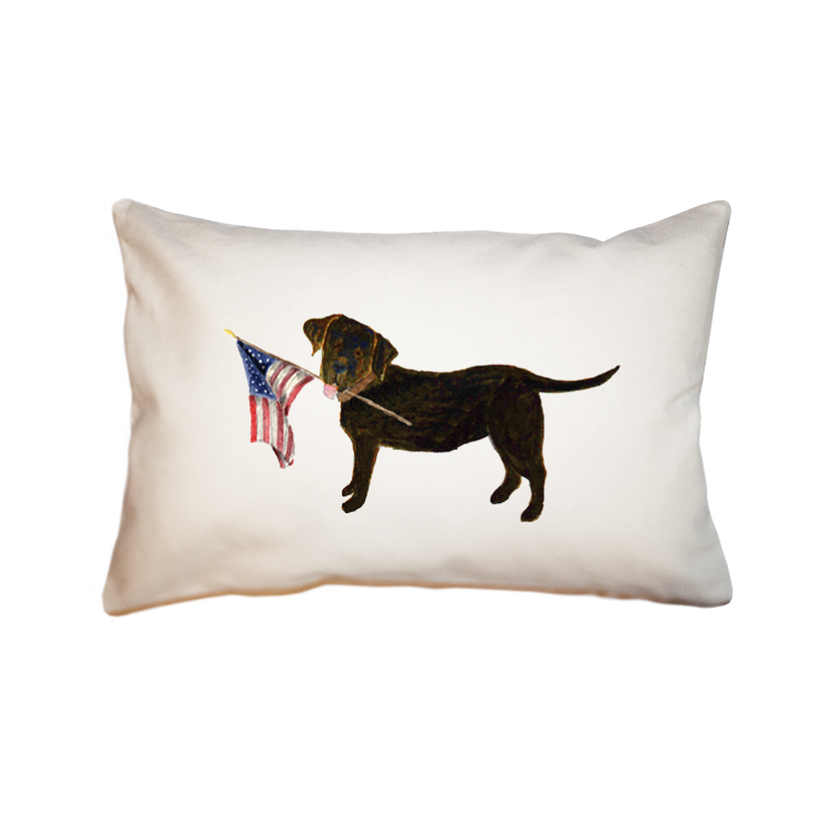 chocolate lab + flag