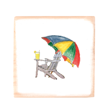adirondack with umbrella