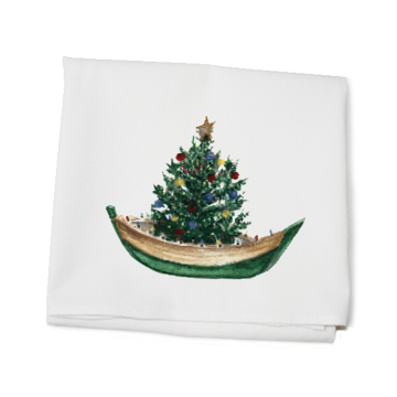 dinghy with tree