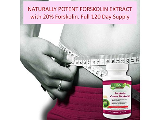 120Ct! Forskolin Extract - Natural Coleus Forskohlii - 250mg - Pure 20% Veggie Capsules