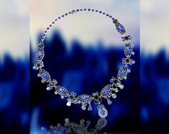 Blue Icicle Necklace by Albert Weiss
