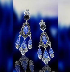 Blue Iceberg Earrings by Albert Weiss Jewelry