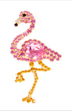 Pink Flamingo Pin with Swarovski Stones by Albert Weiss - Albert Weiss Collection