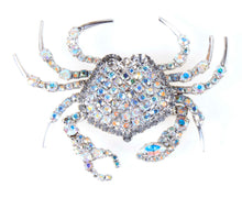 Crab Pin with Movable Claws with Swarovski Aurora Borealis Crystal by Albert Weiss - Albert Weiss Collection