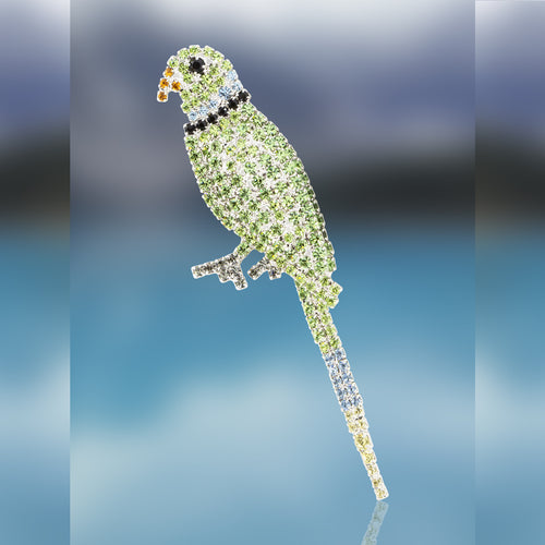Parakeet Pin with Swarovski Crystal Stones by Albert Weiss