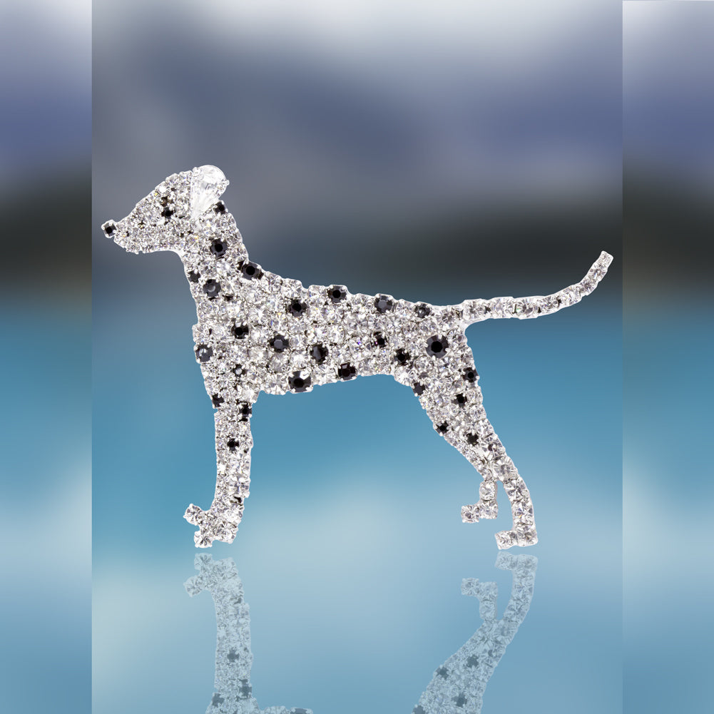Dalmatian Pin with Swarovski Crystal Stones by Albert Weiss