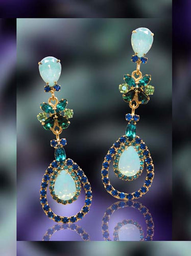 #15853 - Turquoise Tornado Earrings - Albert Weiss Collection